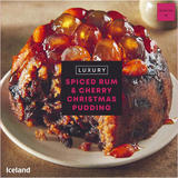 Iceland Luxury Spiced Rum & Cherry Christmas Pudding 400g
