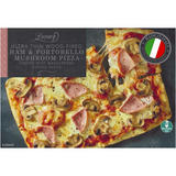 Iceland Luxury Ultra Thin Wood-Fired Ham and Portobello Mushroom Pizza 401g