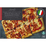 Iceland Luxury Ultra Thin Wood-Fired Spicy Salami and Sausage Pizza 389g
