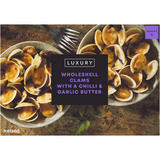 Iceland Luxury Wholeshell Clams with a Chilli & Garlic Butter 530g