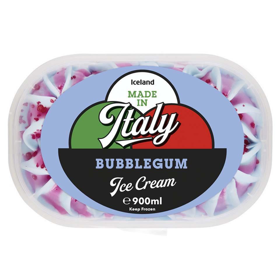 Iceland Made in Italy Bubblegum Ice Cream 900ml | Ice Cream