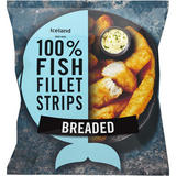 Iceland Made with 100% Fish Fillet Strips Breaded 450g