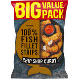 Iceland Made with 100% Fish Fillet Strips Chip Shop Curry 800g