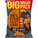 Iceland Made with 100% Fish Fillet Strips Hot & Spicy 800g