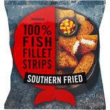 Iceland Made with 100% Fish Fillet Strips Southern Fried 450g