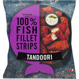 Iceland Made with 100% Fish Fillet Strips Tandoori 450g