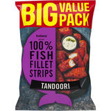 Iceland Made with 100% Fish Fillets Strips Tandoori 800g