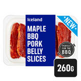 Iceland Maple BBQ Pork Belly Slices 260g