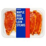 Iceland Maple BBQ Pork Loin Steaks 300g