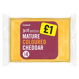 Iceland Mature Coloured Cheddar Cheese 180g