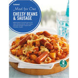 Iceland Meal for One Cheesy Beans And Sausages 500g