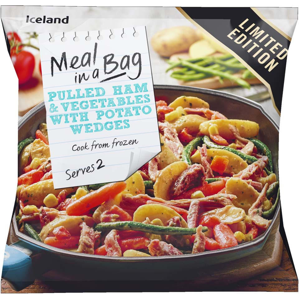 Iceland Meal In A Bag Pulled Ham Vegetables With Potato