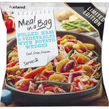 Iceland Meal in a Bag Pulled Ham & Vegetables with Potato Wedges 750g