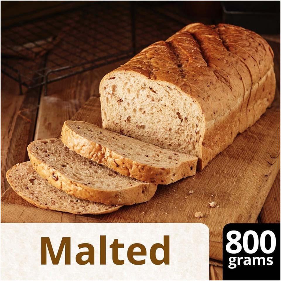 Iceland Medium Sliced Malted Bloomer 800g Brown Wholemeal