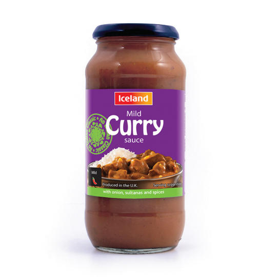 Iceland Mild Curry Sauce 500g Indian And Curry Sauces