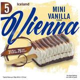 Iceland Mini Vanilla Flavour Vienna Ice Cream Lollies 5 x 175g