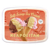 Iceland Neapolitan Soft Scoop Ice Cream 2L
