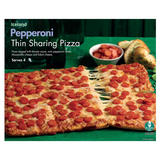 Iceland Pepperoni Sharing Thin Pizza 555g