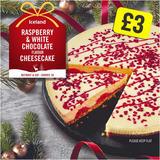 Iceland Raspberry & White Chocolate Cheesecake 800g