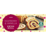 Iceland Raspberry And Vanilla Swiss Roll 300g