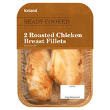 Iceland Ready Cooked 2 Roasted Chicken Breast Fillets 235g