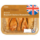 Iceland Ready Cooked British Roasted Chicken Drumsticks 420g