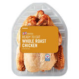 Iceland Ready Cooked British Whole Roast Chicken 800g