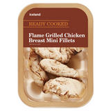 Iceland Ready Cooked Flame Grilled Chicken Breast Mini Fillets 180g