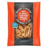 Iceland Ready Cooked Hot & Spicy Chicken Breast Strips 400g
