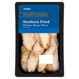Iceland Ready Cooked Southern Fried Chicken Breast Slices 100g