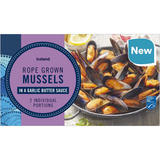Iceland Rope Grown Mussels in a Garlic Butter Sauce 500g