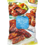 Iceland Salt & Chilli Ribs & Wings Selection Pack 1.5Kg