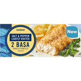 Iceland Salt & Pepper Lightly Dusted  2 Basa Skinless Bonelss Fillets 320g