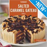 Iceland Salted Caramel Gateau 600g