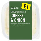 Iceland Sandwich Filler Cheese and Onion 200g