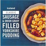 Iceland Sausage & Onion Gravy Filled Yorkshire Pudding 385g