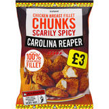 Iceland Scarily Spicy Carolina Reaper Chicken Breast Fillet Chunks 500g