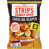 Iceland Scarily Spicy Carolina Reaper Chicken Breast Fillet Strips 540g