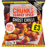 Iceland Scarily Spicy Ghost Chilli Chicken Breast Fillet Chunks 500g
