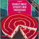 Iceland Scarily Sweet Strawberry Spider's Web Cheesecake 1100g