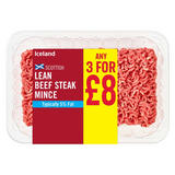 Iceland Scottish Lean Beef Mince 380g