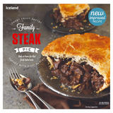Iceland Short Crust Pastry Family Steak Pie Topped With Puff Pastry 700g