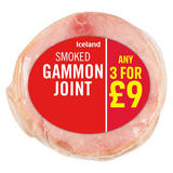 Iceland Smoked Gammon Joint 500g