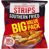 Iceland Southern Fried Chicken Breast Fillet Strips 1kg