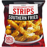 Iceland Southern Fried Chicken Breast Fillet Strips 600g