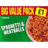 Iceland Spaghetti & Meatballs 500g