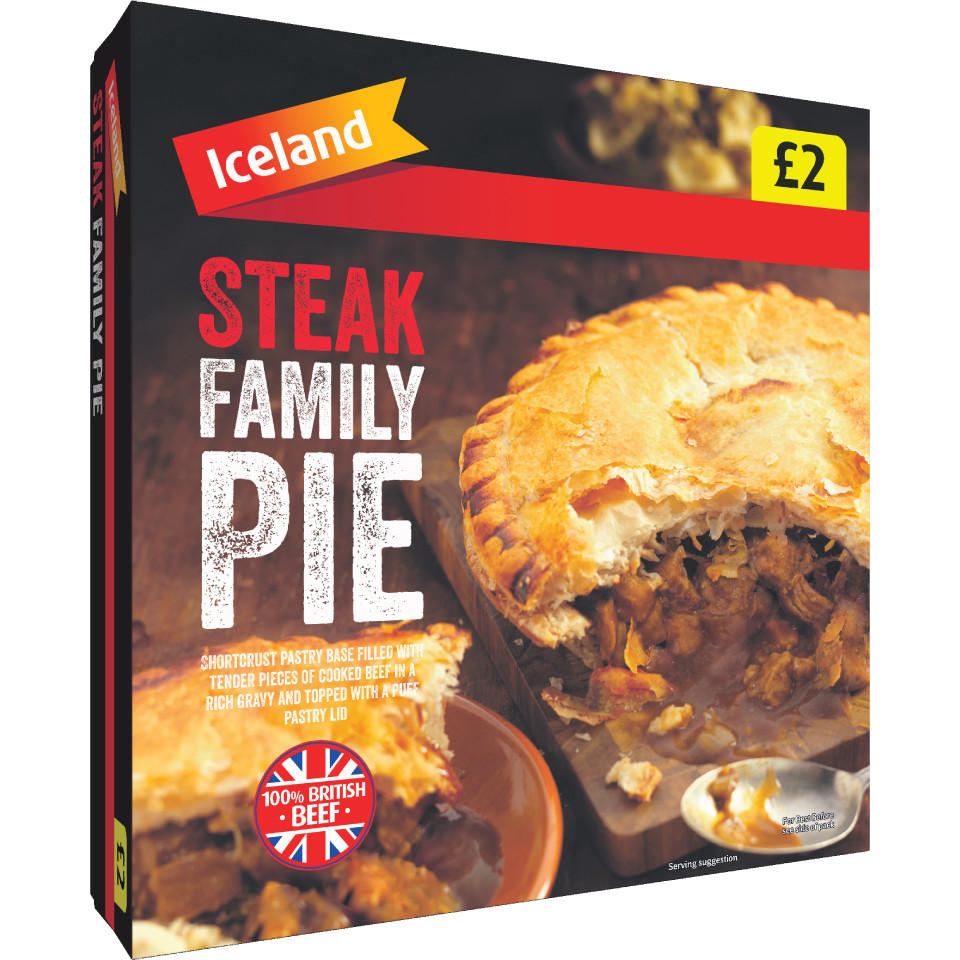 Iceland Steak Family Pie 800g | Pies & Puddings | Iceland ...