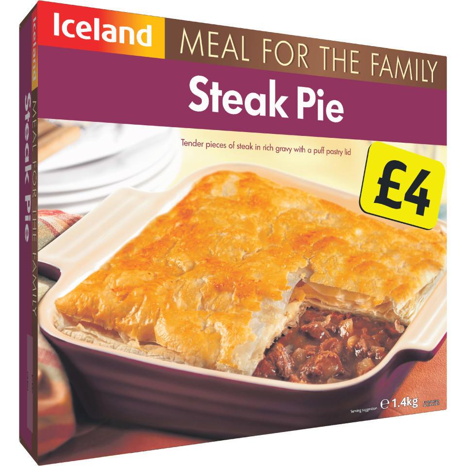 Iceland Steak Pie 1.4Kg | Iceland Foods