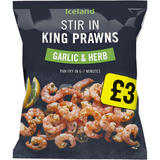 Iceland Stir In King Prawns Garlic & Herb 200g