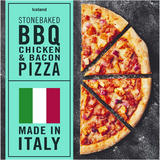 Iceland Stonebaked BBQ Chicken & Bacon Pizza 345g